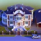 Проект дома из английского красного кирпича пл. 750м2
